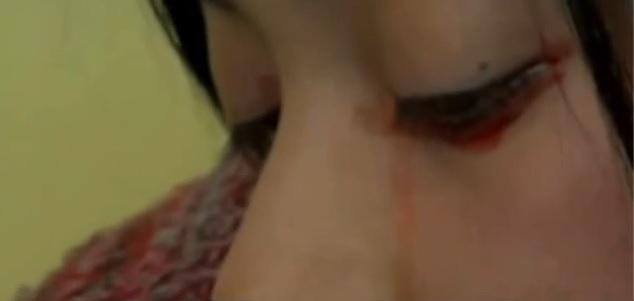 yaritza piange lacrime sangue