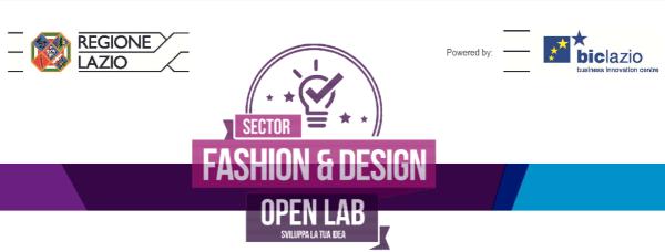 """BIC Lazio Sector Open Lab """"Fashion&Design"""""""