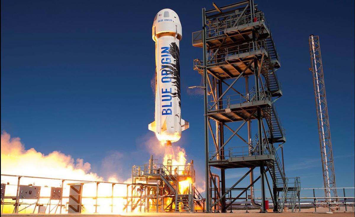 Razzo riutilizzabile di Bezos di nuovo nello spazio