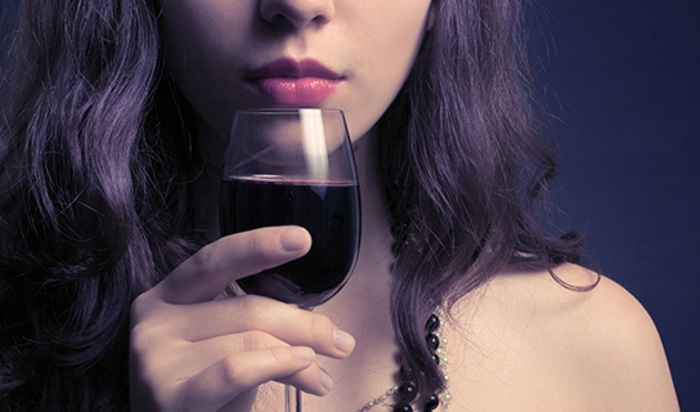 beautiful woman with glass red wine; Shutterstock ID 98618831; PO: The Huffington Post; Job: The Huffington Post; Client: The Huffington Post; Other: The Huffington Post