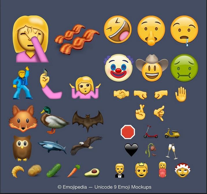 Telefonini: dal clown alla donna incinta, ecco le nuove emoticon del 2016