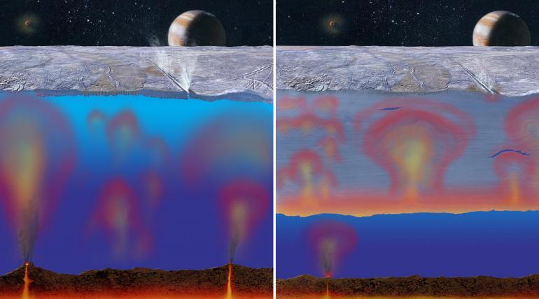 europa satellite giove gayser vapore acqua