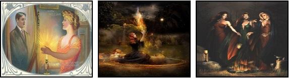 Raffigurazioni dei riti delle donne nella notte di Samhain/Halloween