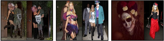 Le star travestite per Halloween: Christina Aguilera, Paris Hilton e Hilary Duff