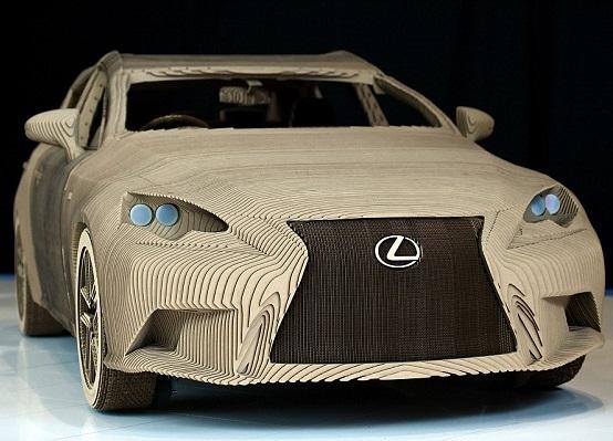 lexus-auto-origami-cartone