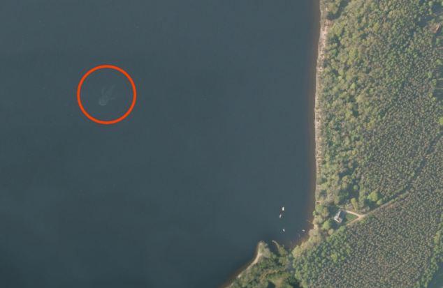 mostro di loch ness immagini satellite