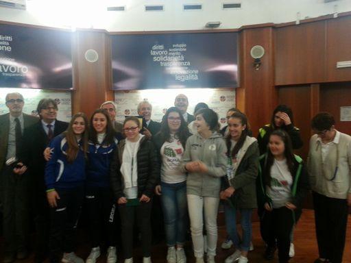 Campionati studenteschi nazionali di pallavolo. zinagretti