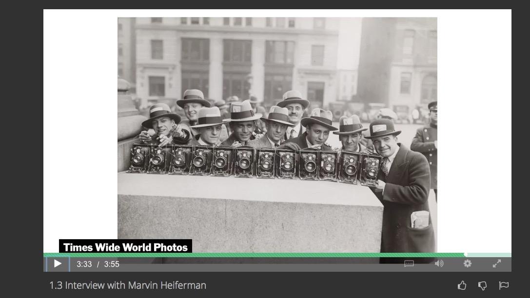 Un estratto della videointervista a Marvin Heiferman