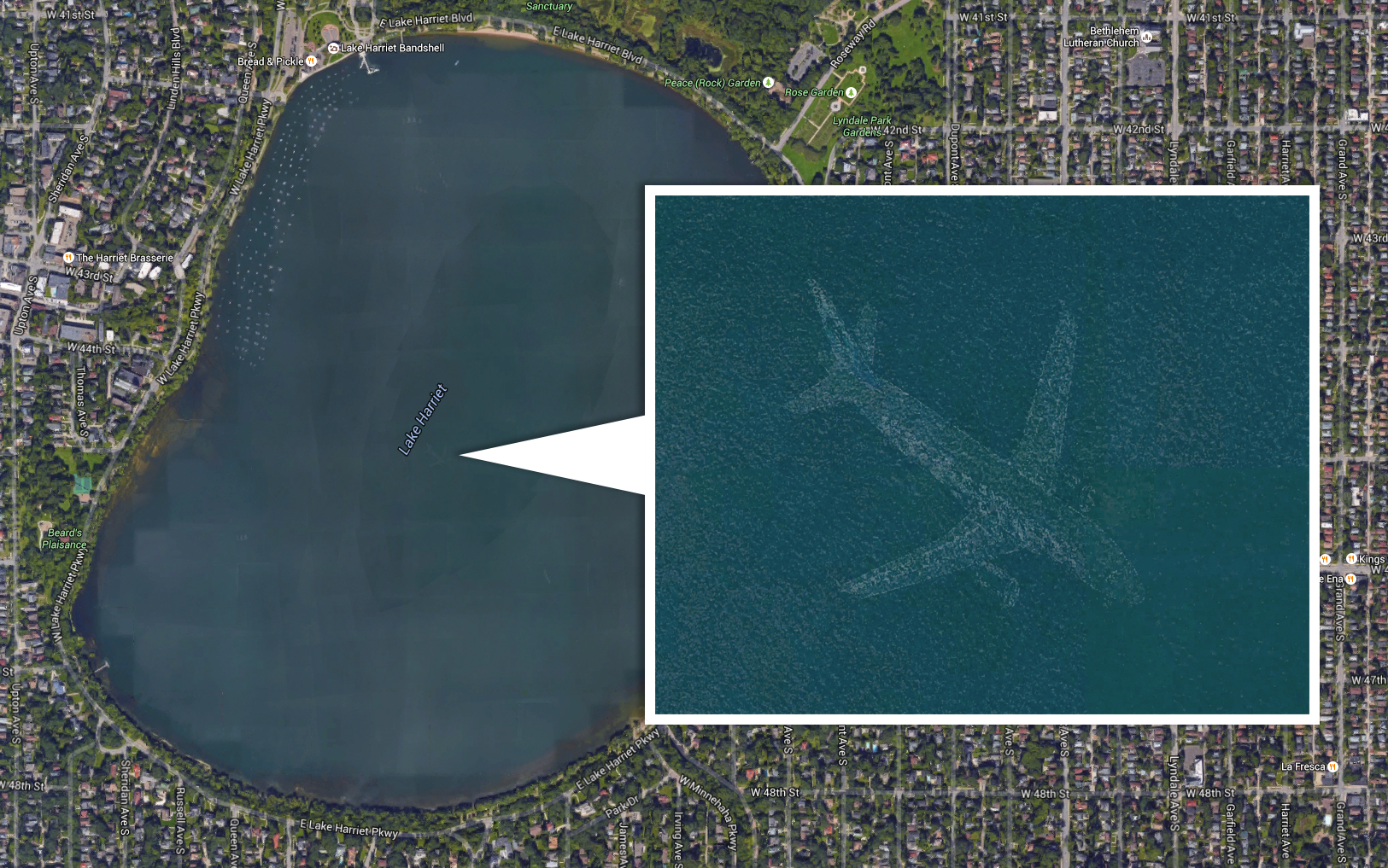 aereo google maps lago harriet