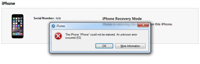 iphone errore 53