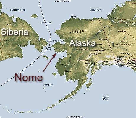 alaska map nome