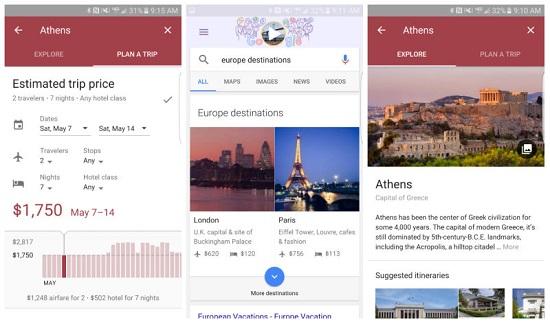 google destinations 2