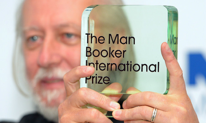 LONDON, ENGLAND - MAY 19: Laszlo Krasznahorkai wins the Man Booker International Prize at Victoria & Albert Museum on May 19, 2015 in London, England. (Photo by Stuart C. Wilson/Getty Images)
