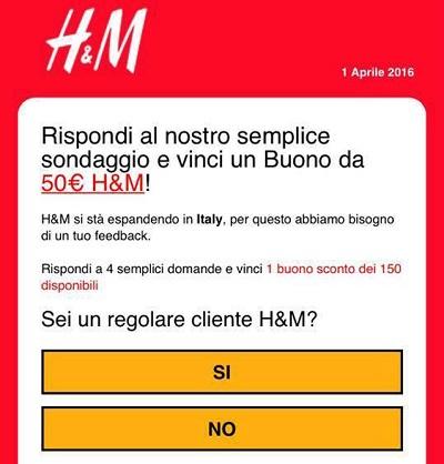 H&M truffa