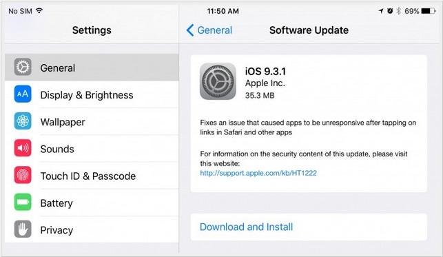 apple ios 9.3.1
