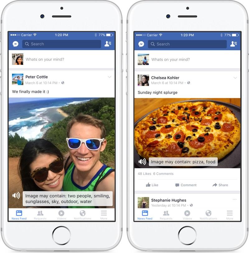 facebook non vedenti