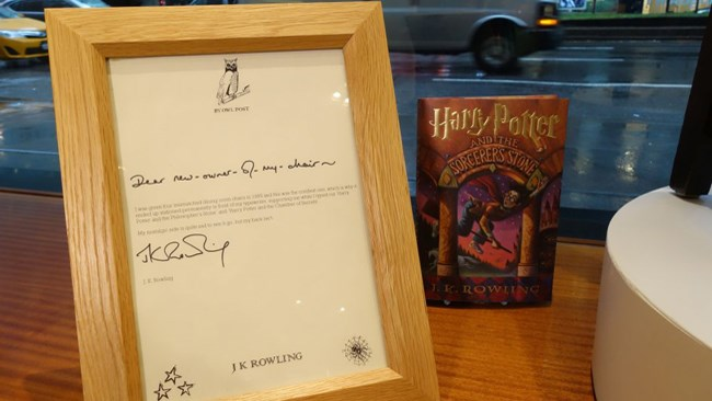 sedia rowling harry potter