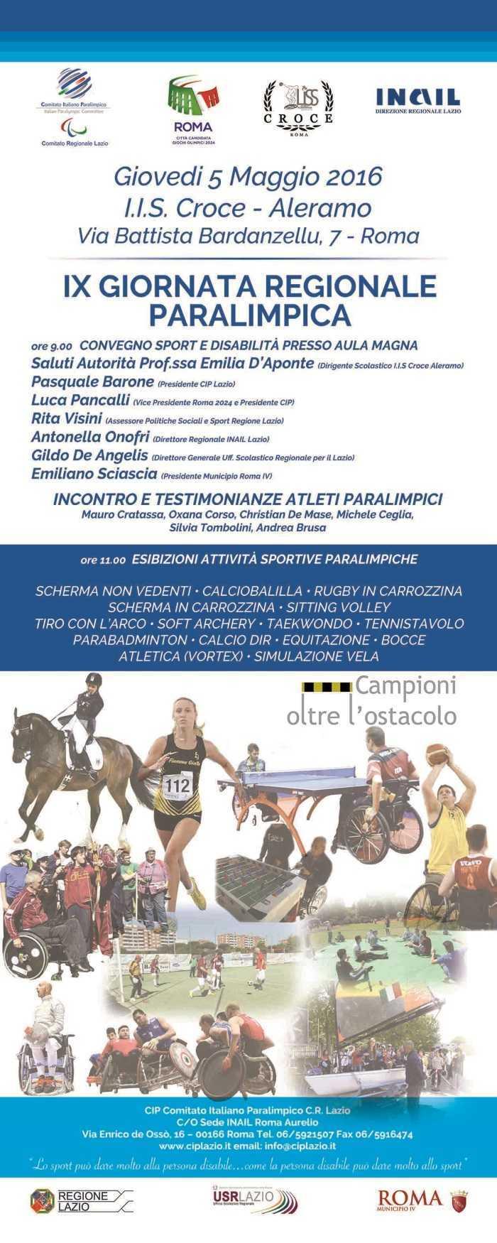 Giornata Regionale Paralimpica