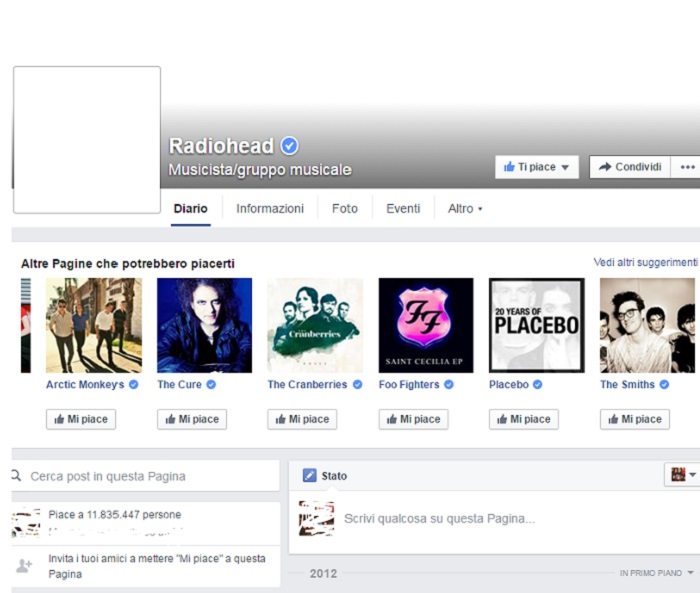Radiohead Facebook