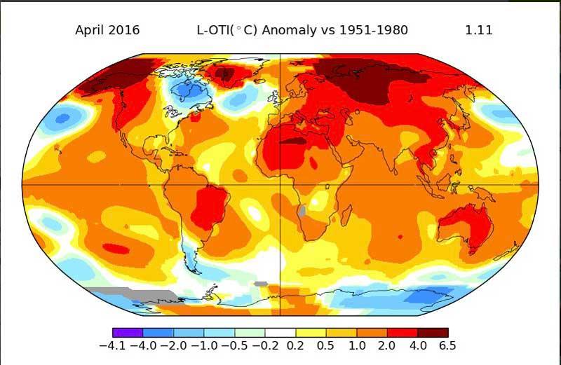 clima caldo record aprile