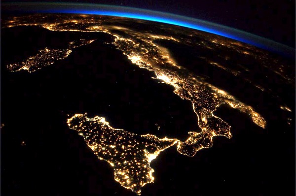 italia inquinamento luminoso