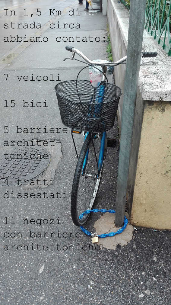classe2D_una bicicletta in via Datini, a Firenze
