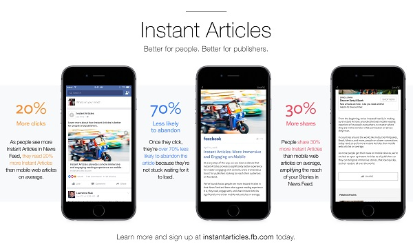 instant articles messanger