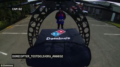 Pizza consegnata con i droni 2