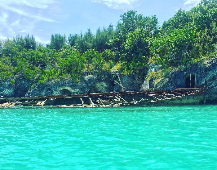 Relitto a Nonsuch Island. Foto on instagram @fabriziafa