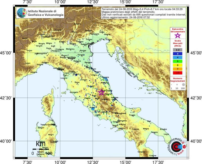 Terremoto magnitudo 6.0 in Centro Italia