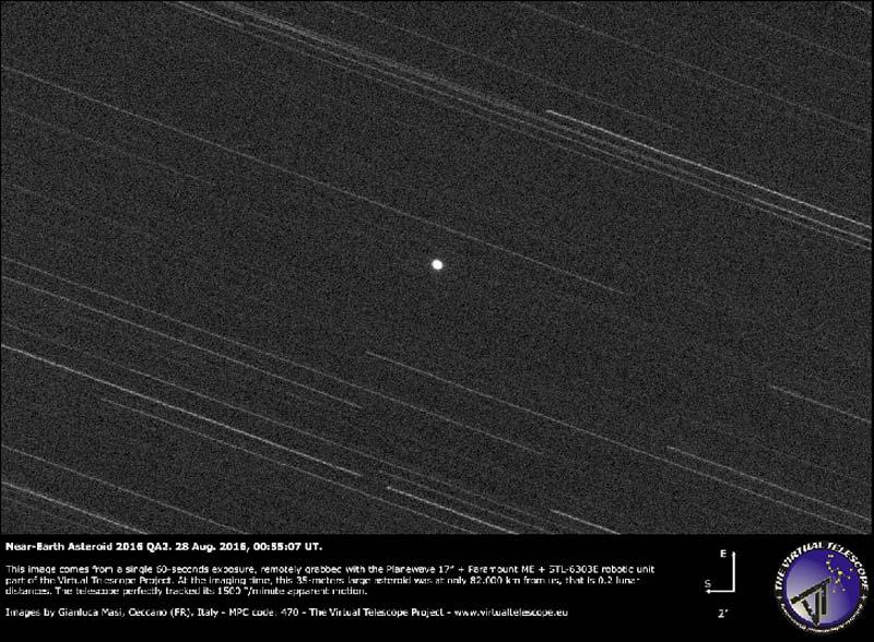 2016 QA2 ha sfiorato la terra asteroid_2016Q02A-7_virtual_telescope