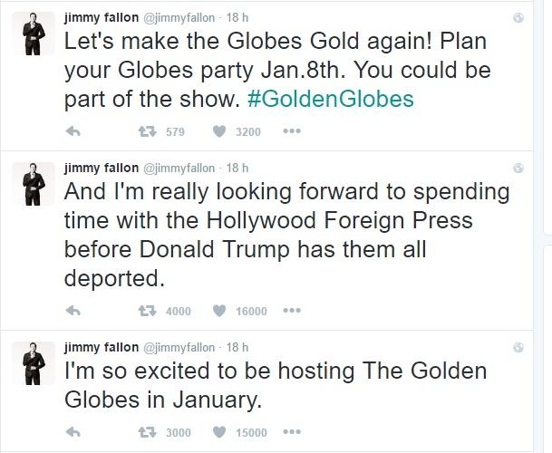 jimmy fallon conduttore dei golden globe