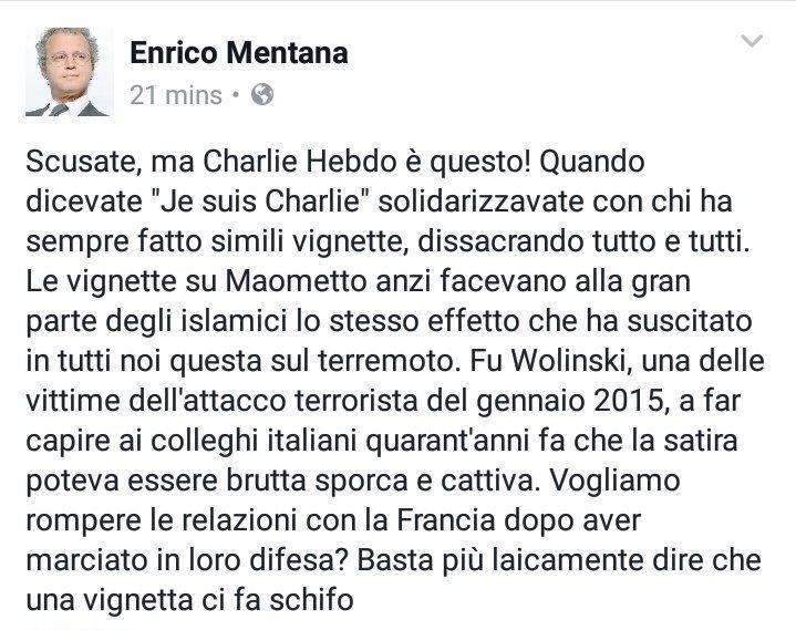 ENRICO MENTANA CHARLIE HEBDO