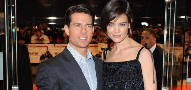 Tom Cruise and Katie Holmes arrive for the UK premiere of Valkyr