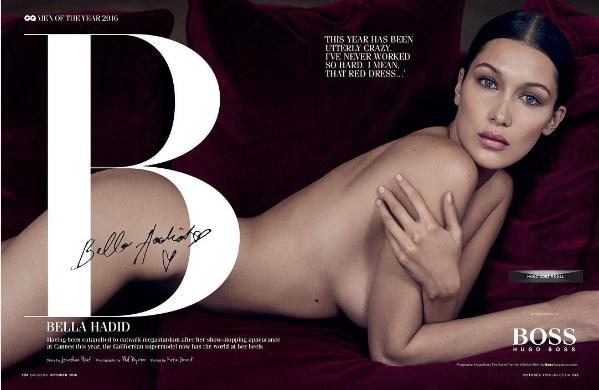 bella hadid nuda su GQ