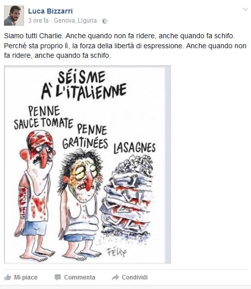 charlie hebdo vignetta terremoto