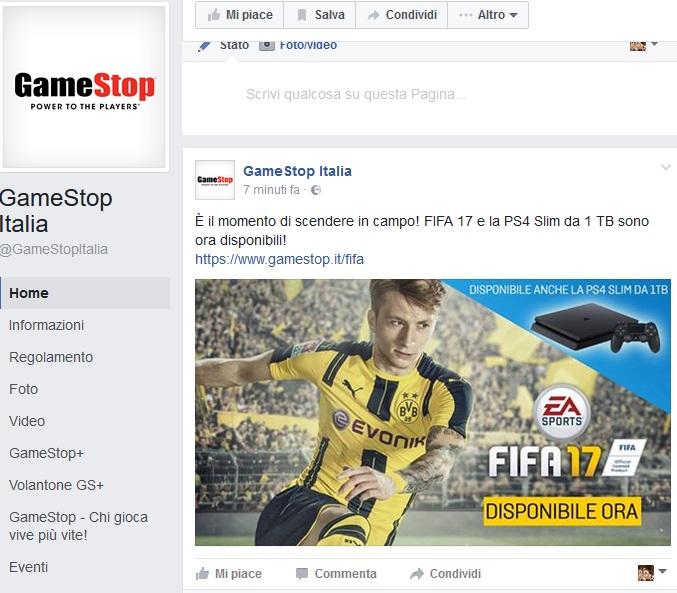 fifa 17 rotto il day one da gamestop