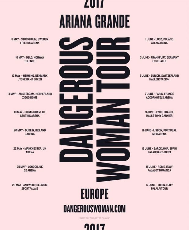 dangerous woman tour