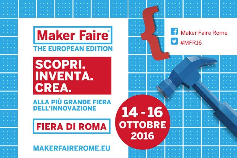 Tutto pronto per il Maker Faire Rome. In live streaming il 14 e 15 ottobre