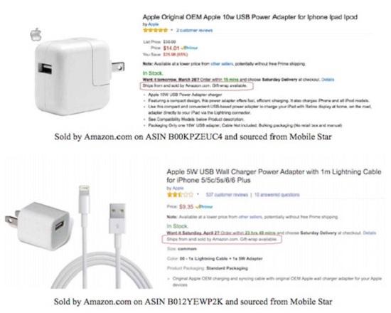 Amazon falsi accessori Apple