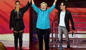 Jennifer Lopez e Marc Anthony di nuovo insieme…ma solo per Hillary Clinton