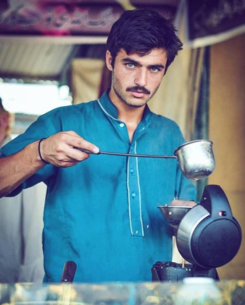 venditore tè modello