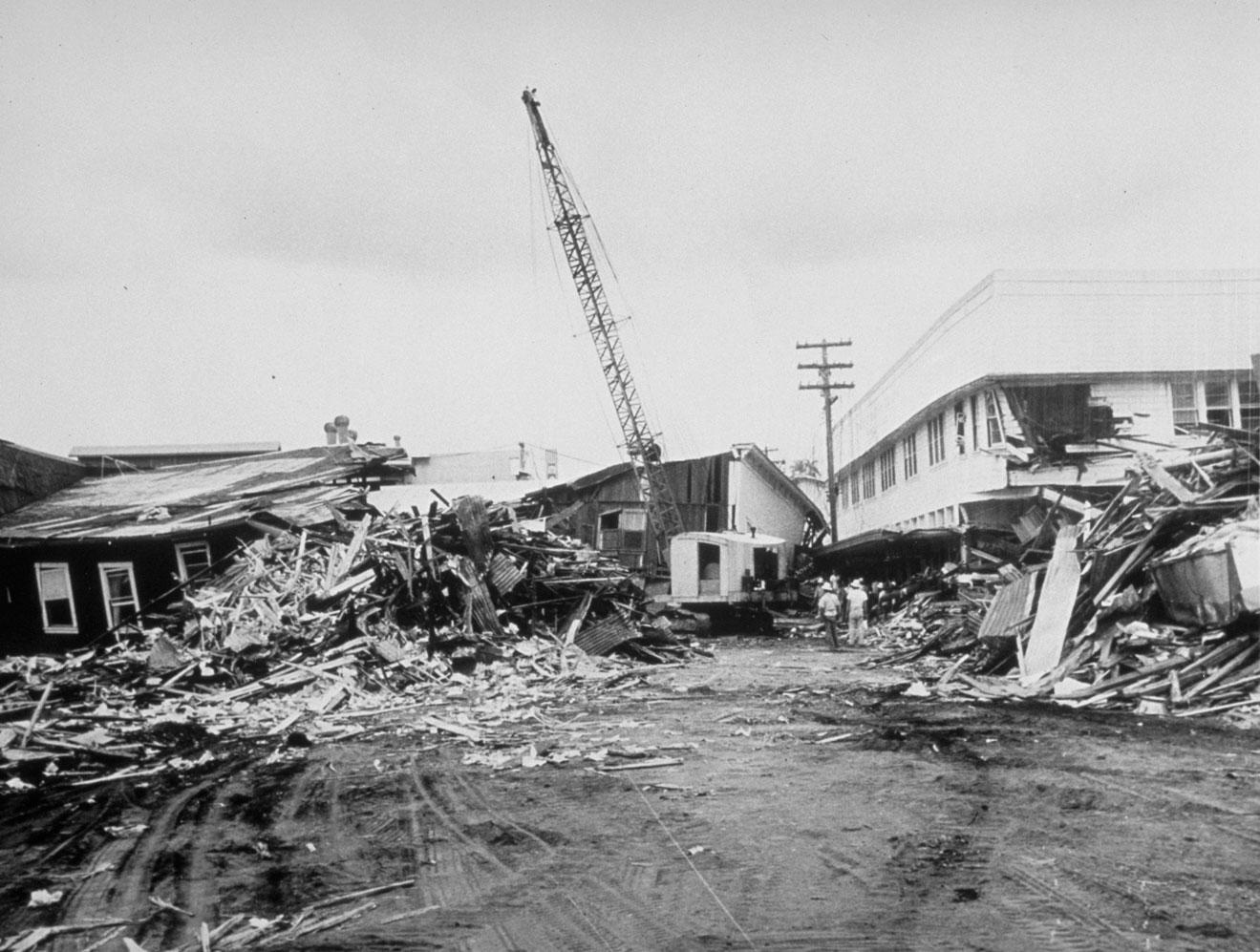 grande terremoto del Cile - tsunami Hilo, Hawaii
