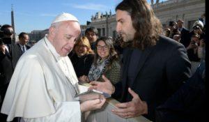 Dopo gli Obama, il compositore Gabriele Ciampi incontra il Papa
