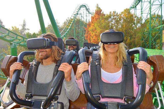 gardaland realtà virtuale sulla montagna russa