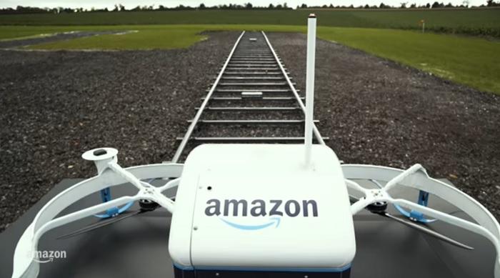 prima consegna con un drone di amazon