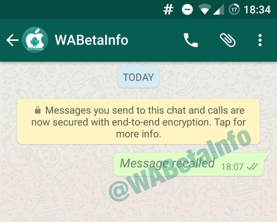 whatsapp funzione revoca messaggi