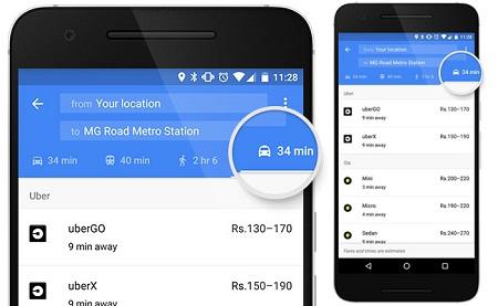 Uber direttamente su Google Maps