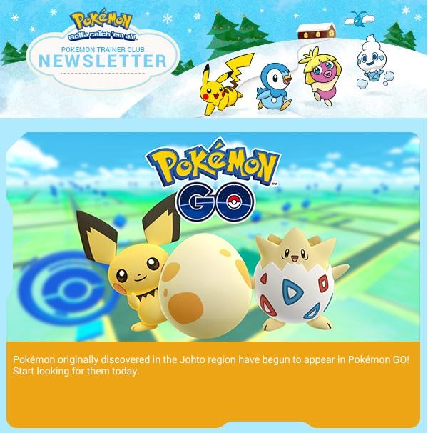 pokemon go nuovi pokémon di johto