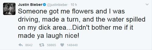 Justin Bieber pipì